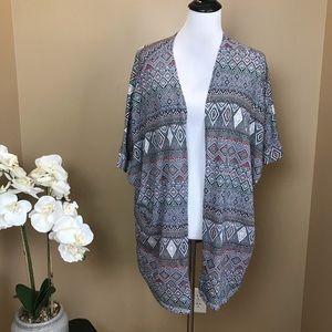 Torrid Aztec Kimono Open Front Cardigan 3X